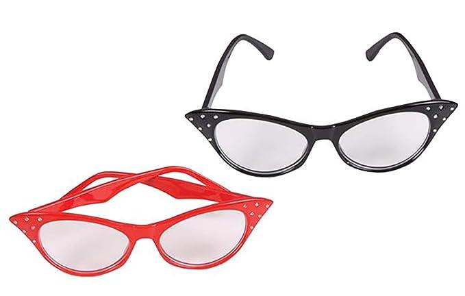 Amazon.com: Pack de 2 gafas de ojo de gato con brillantes ...