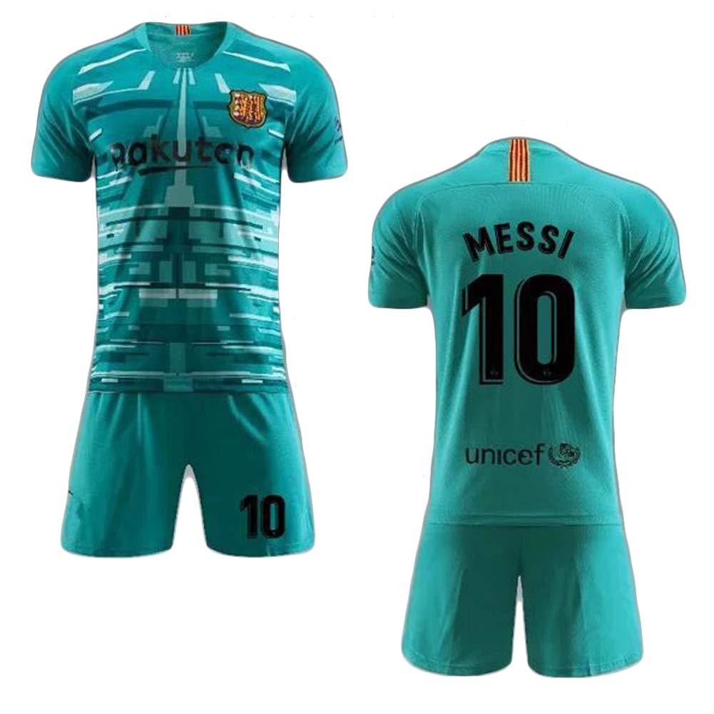 QQLONG Lionel Messi 10 Lionel Andr/és Messi F/útbol Club Barcelona 2019-2020 bar/ça Nouveaux Costumes de Football Maillots de Football /à Domicile et /à l/étranger Maillots dentra/înement Sportswear