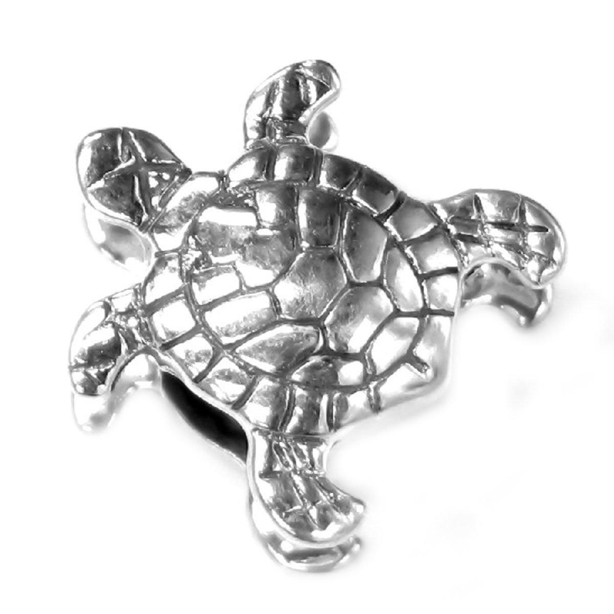 Breloque en forme de tortue aquatique, en argent massif - Pour bracelets à breloques européens Queenberry PA1832X1