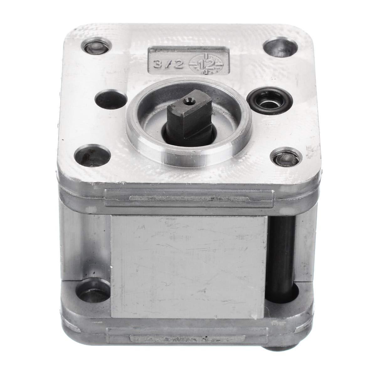 New 1pcs Hydraulic Gear Pump Metal Gear Pump Hydraulic Model Excavating Machinery for Home Tools