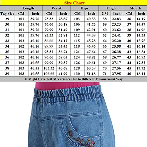 Blue Loose Size Zhhlinyuan Jeans Pantalon Chic Femme Mode Ladies Trousers Stretch Plus High Elastic Waisted Skinny Straight la Dark wUpwS
