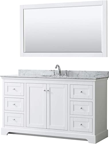 Wyndham Collection Avery 60 Inch Single Bathroom Vanity