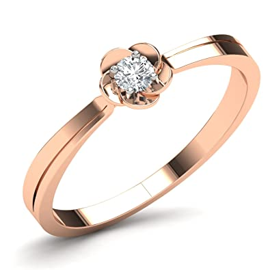 Buy CaratLane 14k Rose Gold and Diamond Ring line at Low Prices