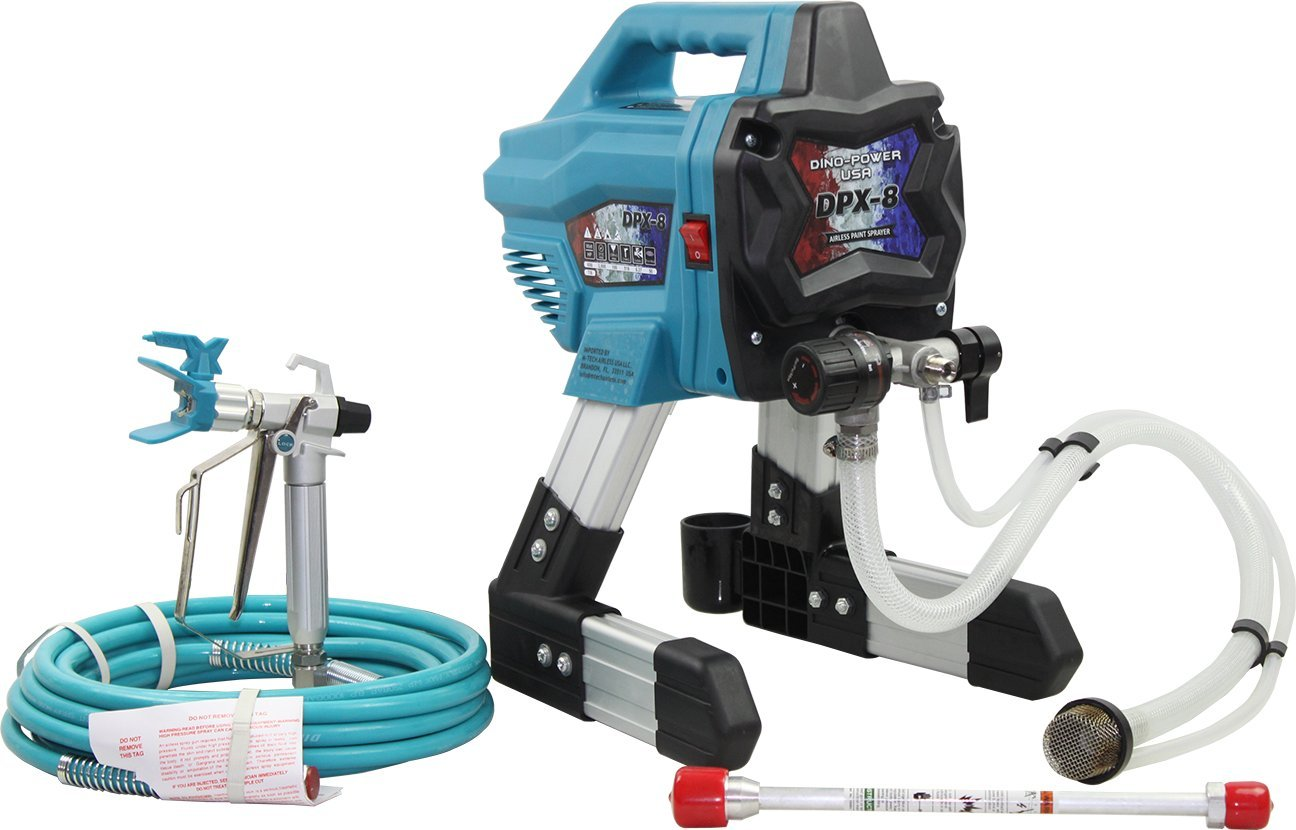 M-Tech Airless Paint Sprayer DPX8 Pro Choice 3000PSI with 1/4''X25' Hose,517 Tip, DPX-450 Gun,12'' Extension Pole- Professional Use Only. Please Ask Professional Help if You Using First time