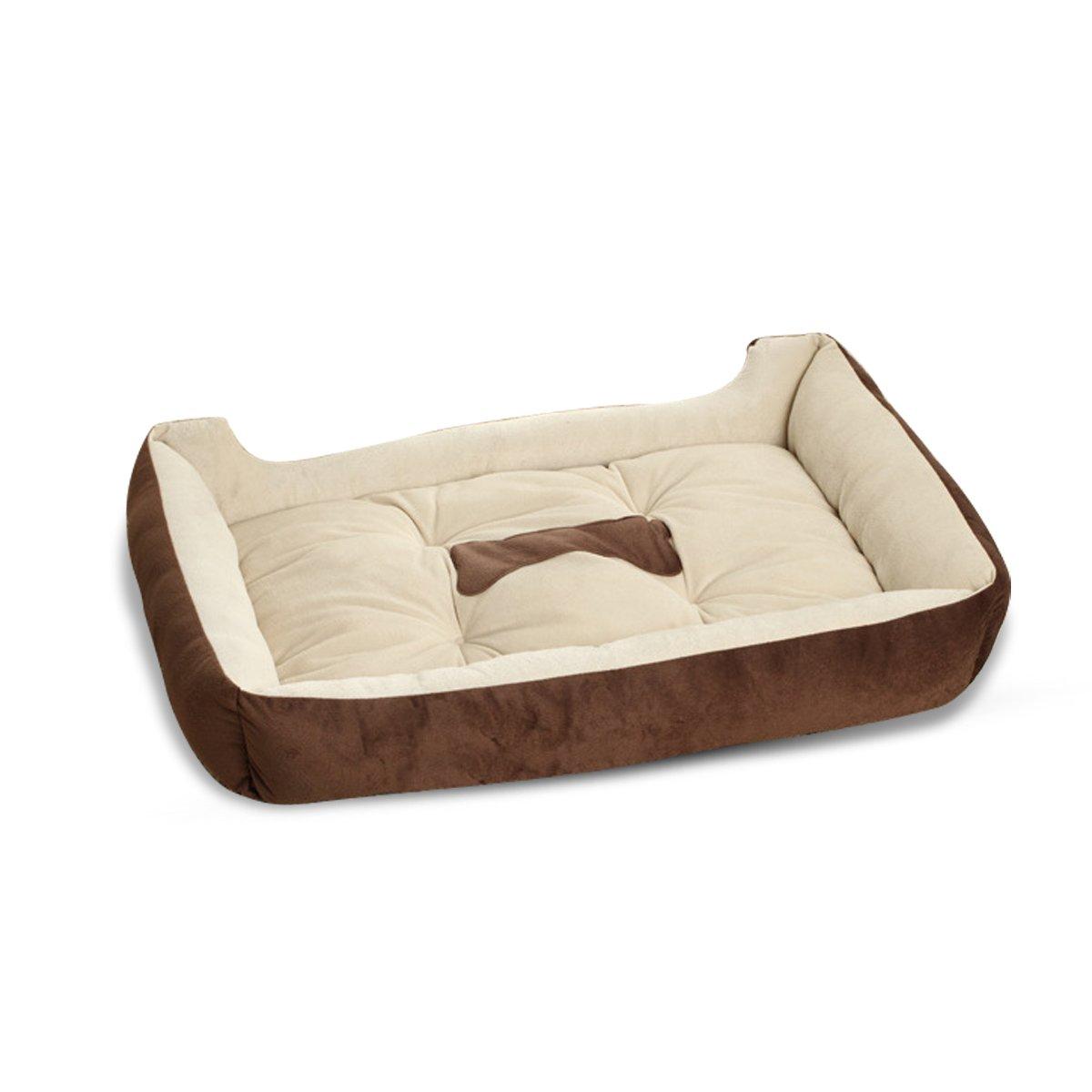 PETCUTE Letto per Cani Grandi Cuccia Letti per Cani Lavabile cucce per Animali Domestici con Fodera in Finta Pelle di Pecora