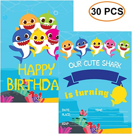 Amazon.com: Tarjeta de felicitación de tiburón para fiesta ...