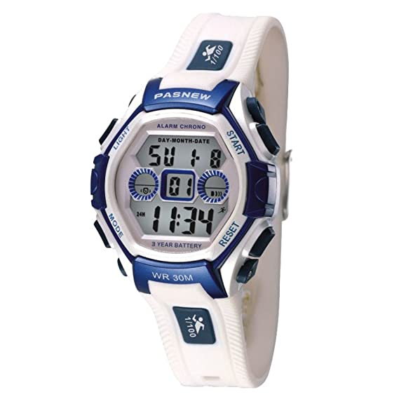 Los niños reloj/niña macho reloj/impermeable de los deportes reloj electrónico/mesa runners-white: Amazon.es: Relojes