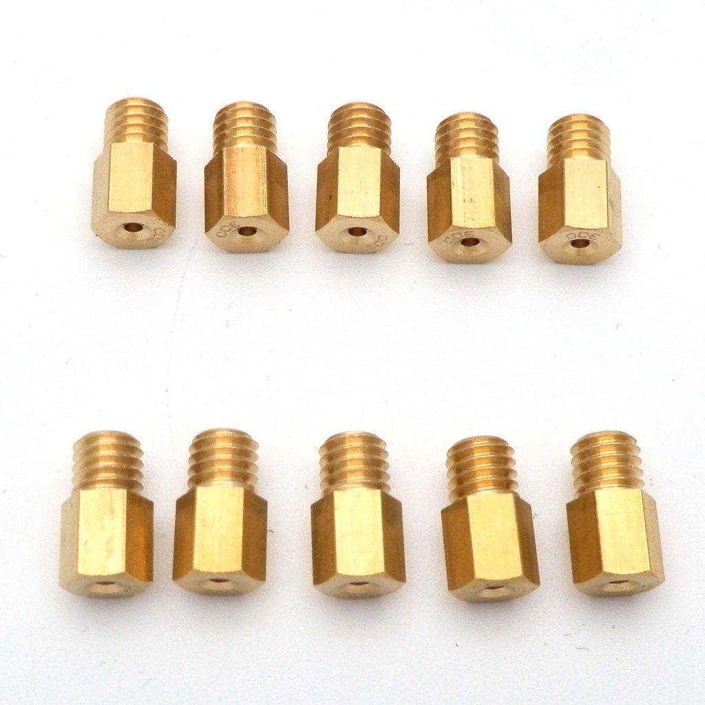 /490 yuns HUO 10/x Hex Principal Boquilla Juego de boquillas para Mikuni VM TM TMX Carburador Boquilla 400/