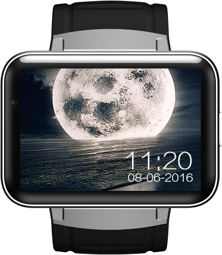 AXDNH Hombres Reloj GPS Movimiento posicionamiento navegación WiFi inalámbrico Internet cámara HD Video Llamada Salud monitoreo Paso Contador Smart Pulsera,Gray
