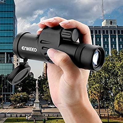 Enkeeo 8X30 Compact Monocular for Bird Wildlife Viewing, Camping, Sports Events, Concerts, Hunting, Surveillance