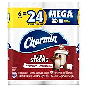 61JDX6opRVL. AA300  - Charmin Extremely Gentle Mega Roll Rest room Paper, 24 Rely