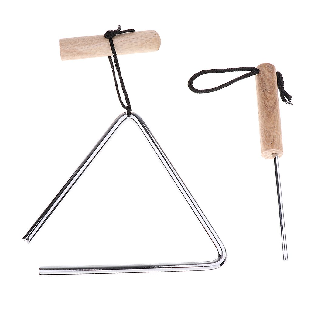 Homyl Novelty Stainless Steel Triangle Instrument with Beater Striker for Church School Club Singing Accessory - 5inch by Homyl (Image #4)