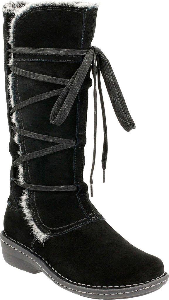 Clarks Women's Avington Hayes Lace Up Boot,Black Combination Cow Suede,US 12 M