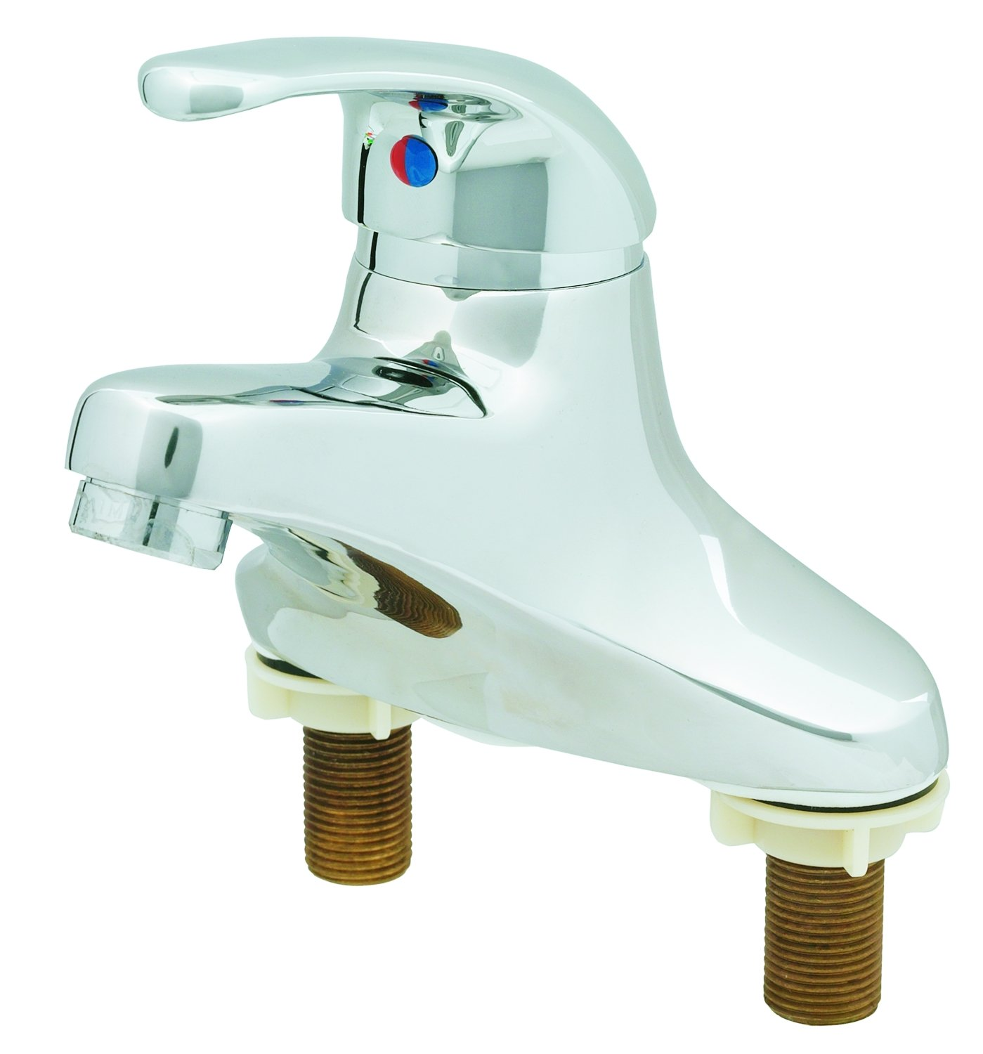 T&S Brass B-2710 Single Lever Faucet, 4-Inch Centerset, 4-Inch Handle, 2.2 Gpm Aerator, Pop-Up Drain Assembly by T&S Brass B002WDPKX0