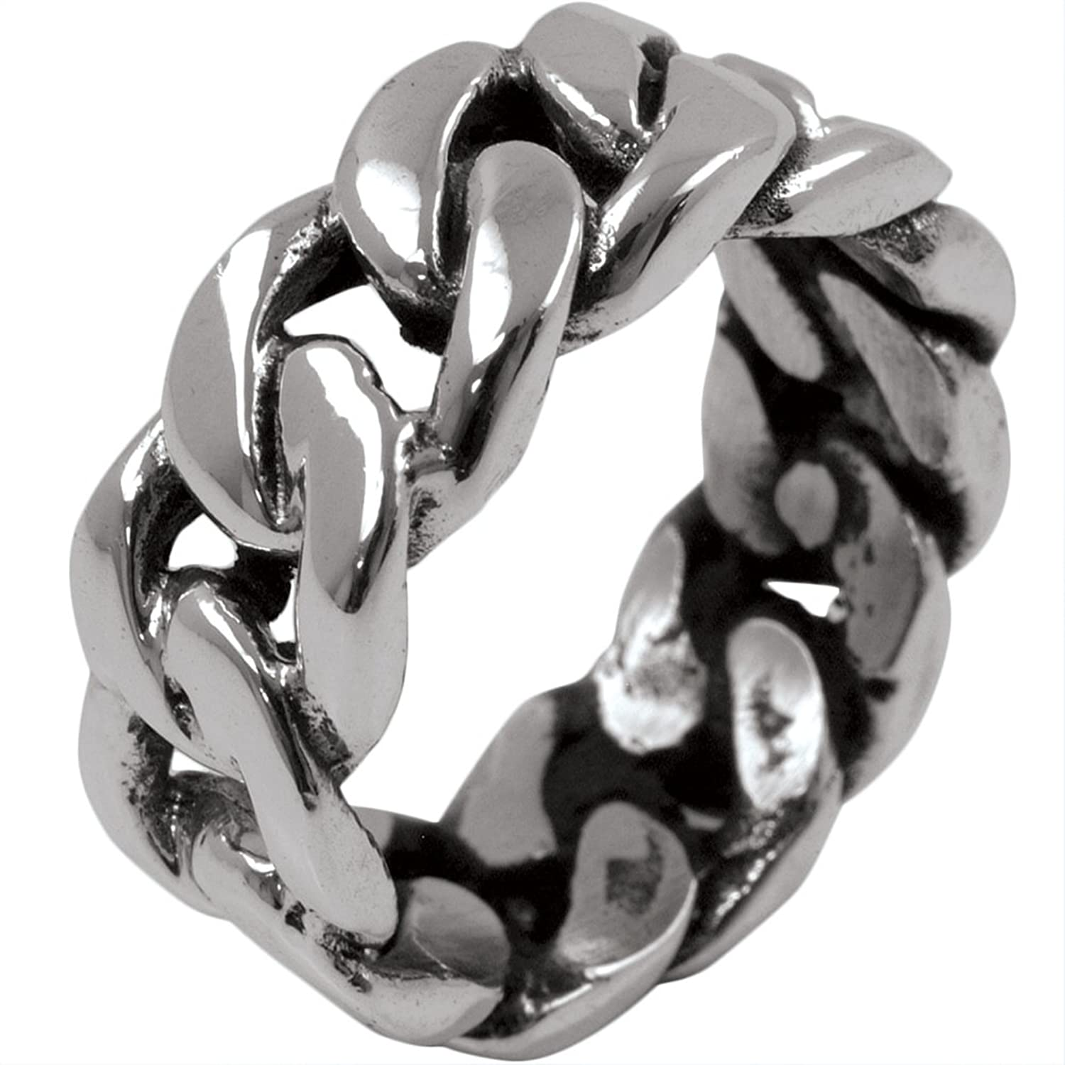 Amazon.com: Chain Link - Sterling Silver Ring: Jewelry