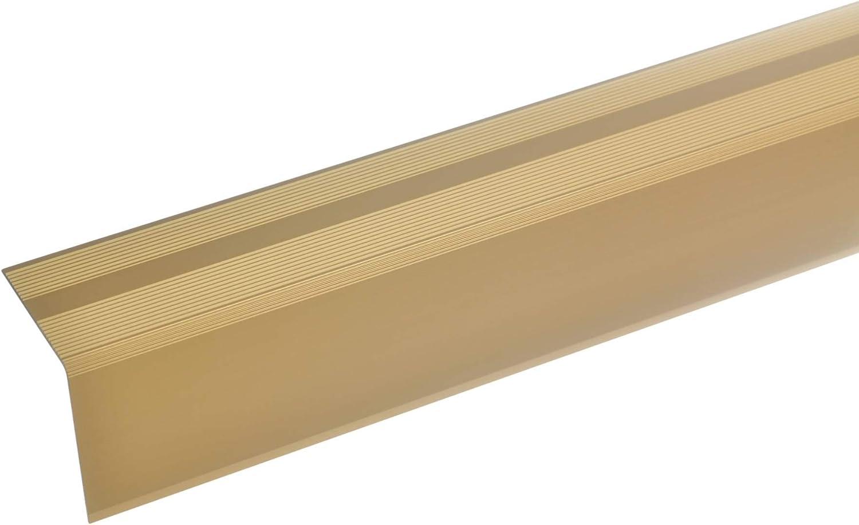 silber Selbstklebendes Bodenprofil 27x1,7mm * Rutschhemmend Laminat /& Parkett acerto 33016 /Übergangsprofil Aluminium /Übergangsleiste f/ür Teppich-Boden * Kratzfest 90cm Alu-/Übergangsschiene