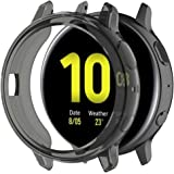 Compatible with Samsung Galaxy Watch Active 2 Case 44mm SM-R820 Flexible TPU Case Protector Cover Protective Case Black