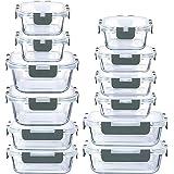 LYTIO - Juego de 24 Piezas recipientes herméticos y a prueba de fugas reutilizables resistentes a manchas y olores con tapas