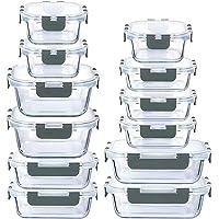 LYTIO - Juego de 24 Piezas recipientes herméticos y a prueba de fugas reutilizables resistentes a manchas y olores con…
