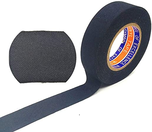 Electrical Tape Automotive Harness Velvet Tape Black Cloth Velvet Tape Adhesive Insulation Heat Resistant Tape Heat Proof Engine Compartment Wiring Tape Used Noise Reduction Protection Amazon Co Uk Kitchen Home
