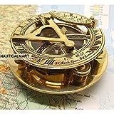 Brass Sundial Compass 3'' Nautical Gift by NauticalMart