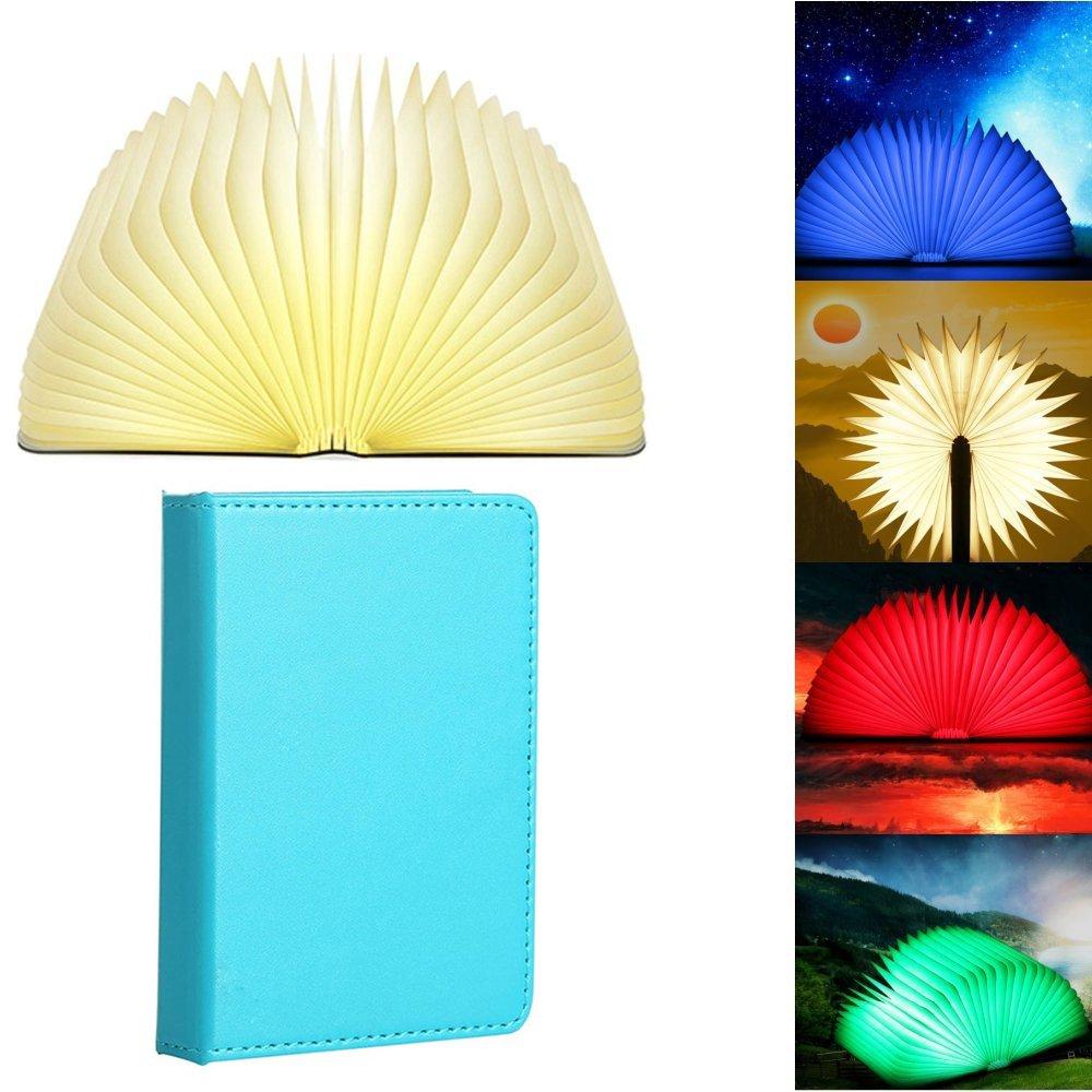 Aolvo Bedside Table Lamp, Book-Shaped Folding LED Night Light Best Gift for Men Women Teens Kids Children Sleeping Aid