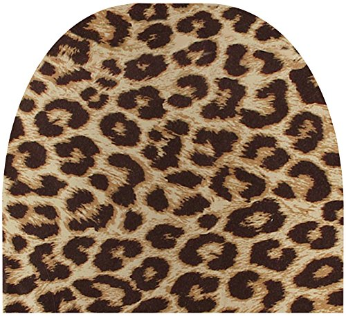- Automotive Innovations Tan Leopard Polyester Front/Back Universal Fit Headrest Cover - Pair