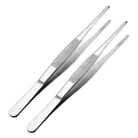 135mm uxcell Picking Long Metal Pointed Tip Tweezers Nipper