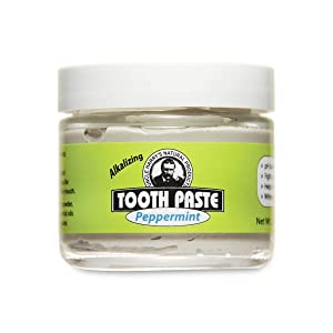Uncle Harry's Natural & Fluoride-free Remineralizing Toothpaste - Freshens Breath & Strengthens Enamel - Peppermint (3 oz. jar)