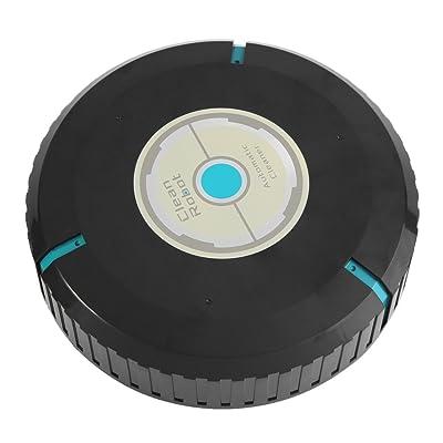 Aspirateur robot Balayeuse de Plancher Intelligent Balayage Robot Nettoyeur de sol Robot Collecteur de Poussière Machine pour Maison 23*6cm(Noir)