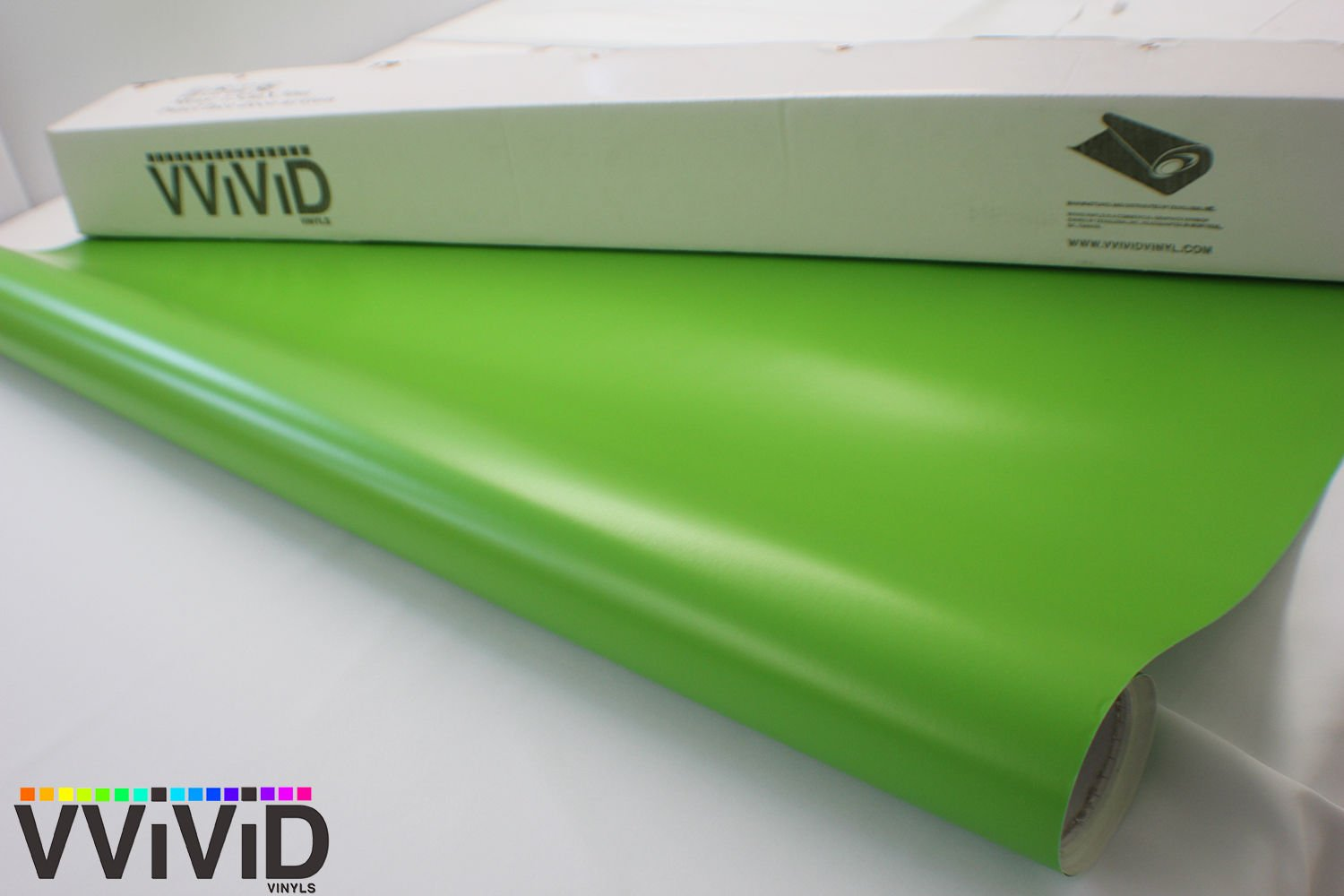 Matte Lime Green 60 x 1ft Car Wrap Vinyl Roll with Air Release 3MIL-VViViD8 VViViD Vinyls VV8-MLG-1