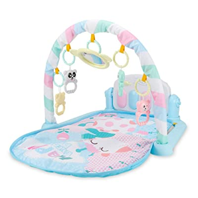 ASOSMOS Baby Play Mat Fitness Bodybuilding Frame Pedal Piano Music Carpet Blanket Kick Play Lay Sit Toy (blue): Toys & Games