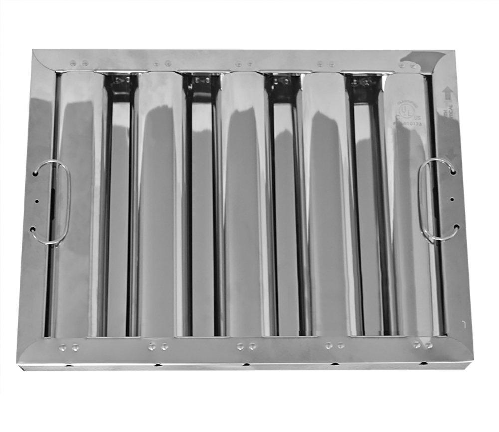 12'' X 16'' X 2'' Kleen Gard Stainless Steel Hood Filter