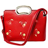 Fashion Women Shoulder Bag, PU Leather Large Ladies Top Handle Satchel Tote Bag Purse Crossbody Bag Handbag Red