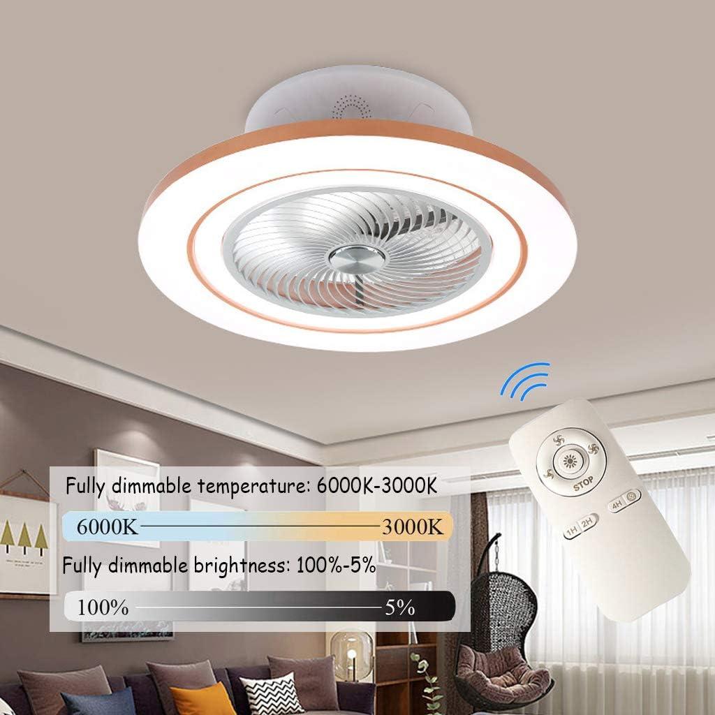 Ventilador De Techo Con Iluminación, Ventilador De Techo Con Altavoz Bluetooth 3 Velocidad Del Viento Ajustable, Regulable Con Control Remoto, Para Dormitorio, Sala De Estar, Comedor (Ø60CM)