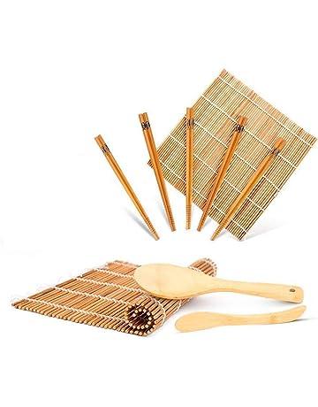 WeeDee Kit para Hacer Sushi de Bambú 9 Piezas - 2 x Esterillas, 1 x