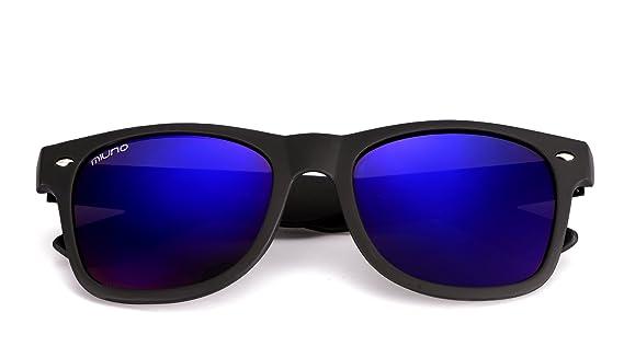 Miuno® Sonnenbrille Herren Damen Etui & Brillentuch unisex Wayfarer Federscharnier matt Gestell 121-1 (Blauverspiegelt) g6Bx0pAR