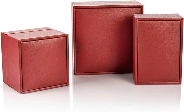 ROMQUEEN Collar Caja Roja Caja de Regalo para Pulsera Ideal para Almacenar Sus Cosméticos O Joyas,Collar Caja Rojo(6 * 9): Amazon.es: Joyería