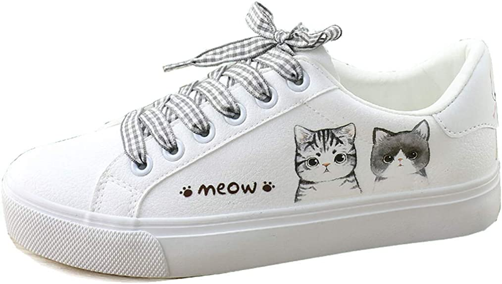 Frelo Girls Cat Shoes Low Top Lace Up