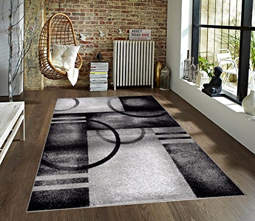 7030 Gray 7'10x10'2 Area Rug Modern Carpet Large New