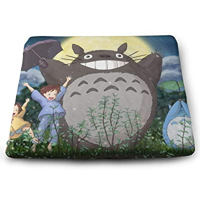 My Neighbor Totoro Square Cushion Thick Large Soft Mat Floor Pillow Seating for Home Decor Garden Party for Chair Pads 15x13.7x1.2Inch: Office Products