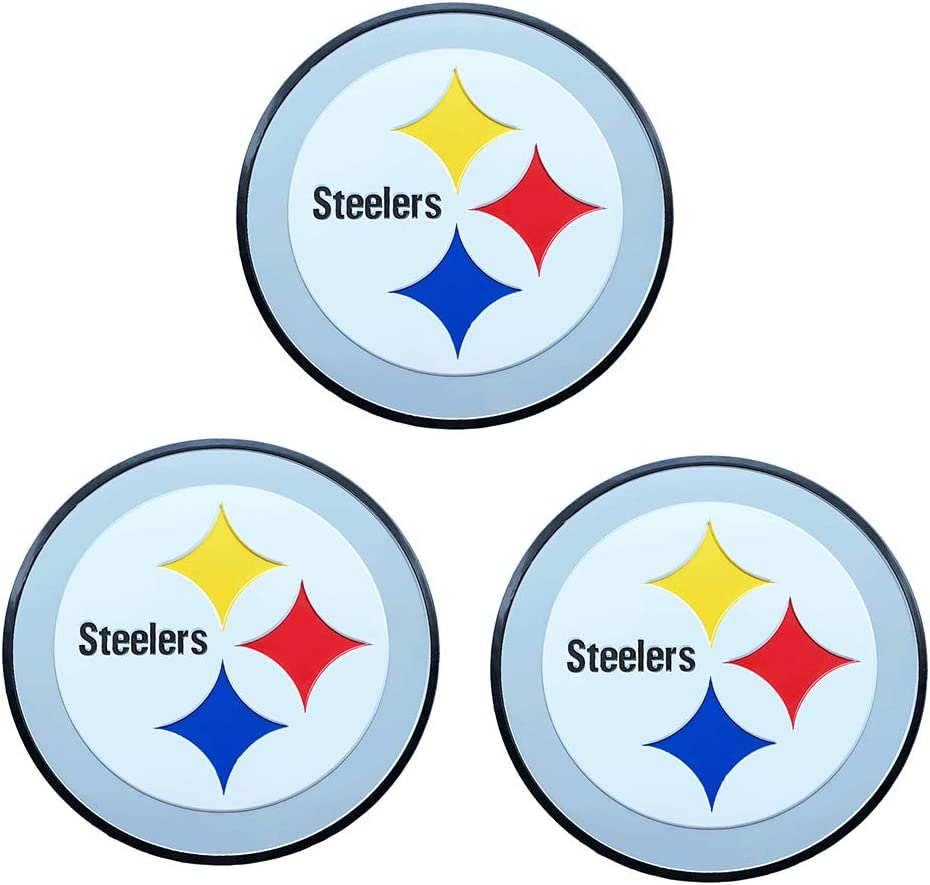 3pcs Steelers Pittsburgh Metal tag Stickers, Used for car Decals, Wall Stickers, Doors, laptops, Home Decoration, car Decoration, Better Gifts