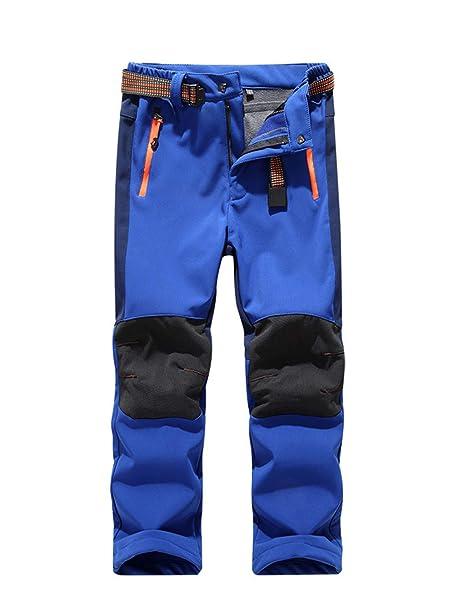 485e727c202a4 Minghe Children Warm Softshell Trousers Waterproof Windproof Fleece Lined Boys  Girls Kids Trekking Trousers Climbing Pants: Amazon.co.uk: Clothing