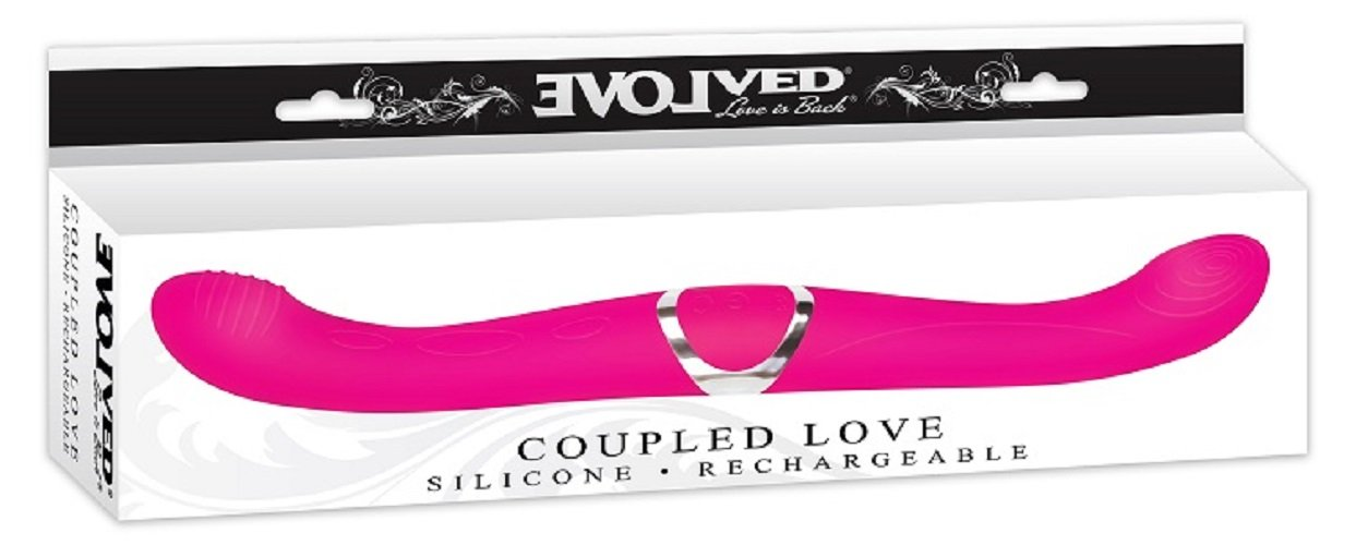 Evolved Novelties Coupled Love Silicone Rechargeable Double Ended Pink Vibrator