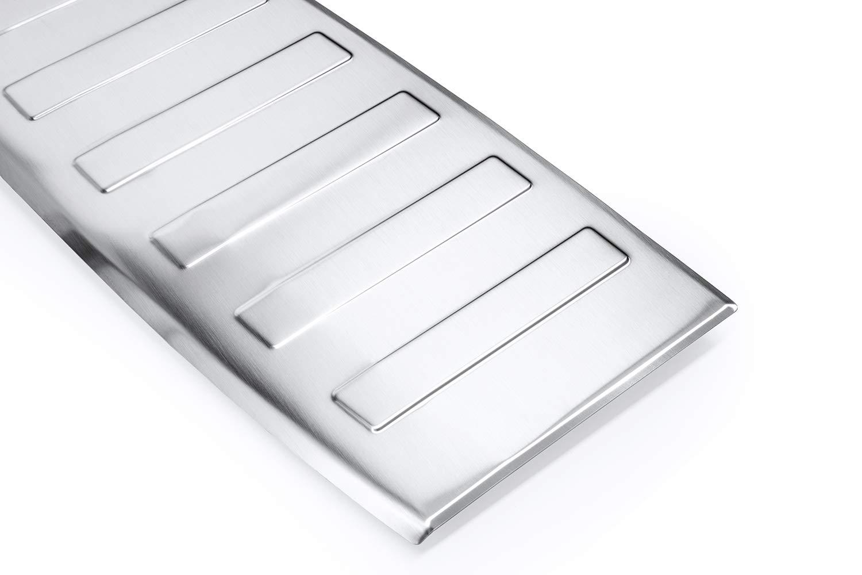 tuning-art L195 Protection de seuil de Coffre de Chargement en Acier Inoxydable avec Profil 3D et Bord Arrondi