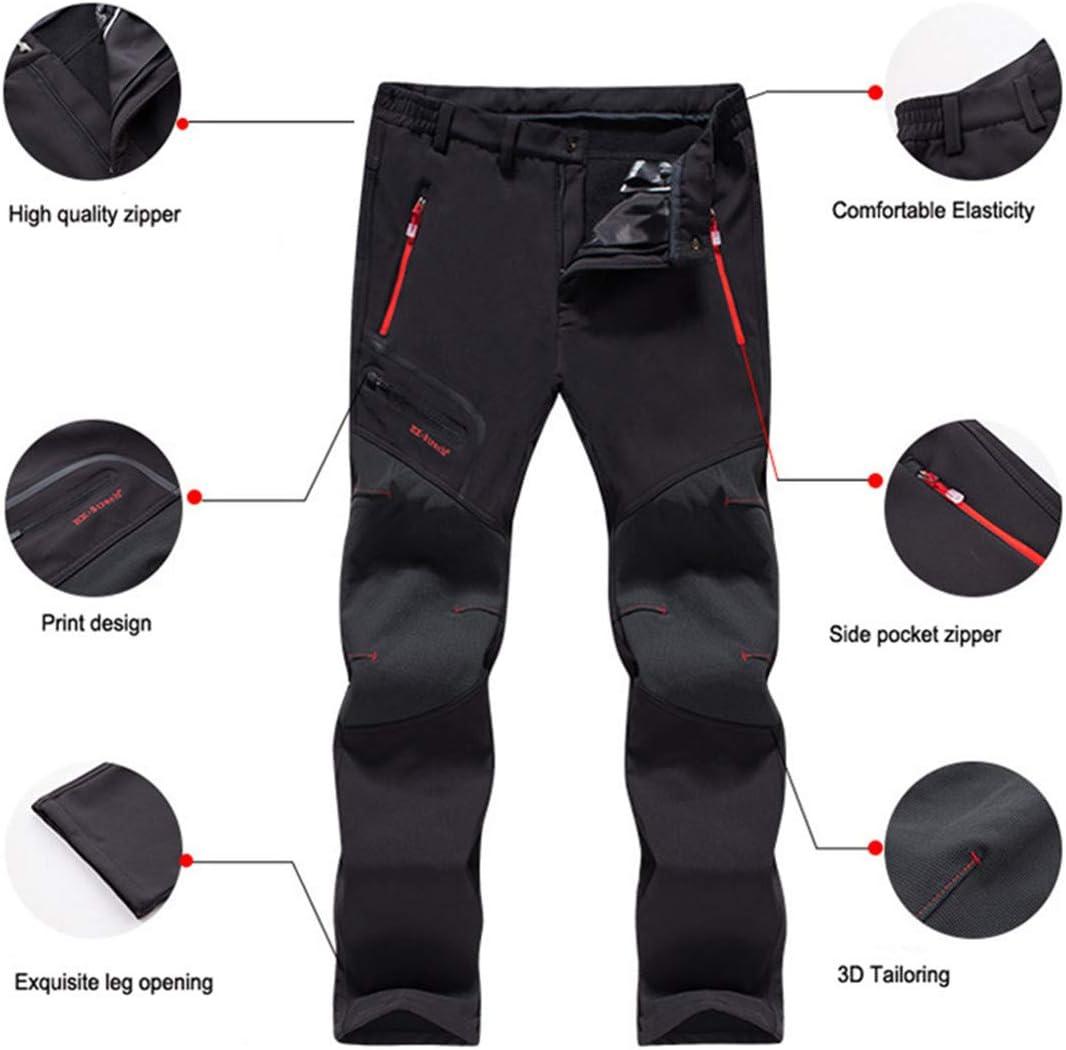 Men Thermal Waterproof Pants Outdoor Hiking Camping Trousers Fishing Trekking Skiing Pants