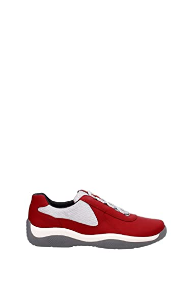 Prada Chaussures Baskets Sneakers Homme en Cuir Nevada Rouge  Amazon.fr   Chaussures et Sacs 2fd2704a309