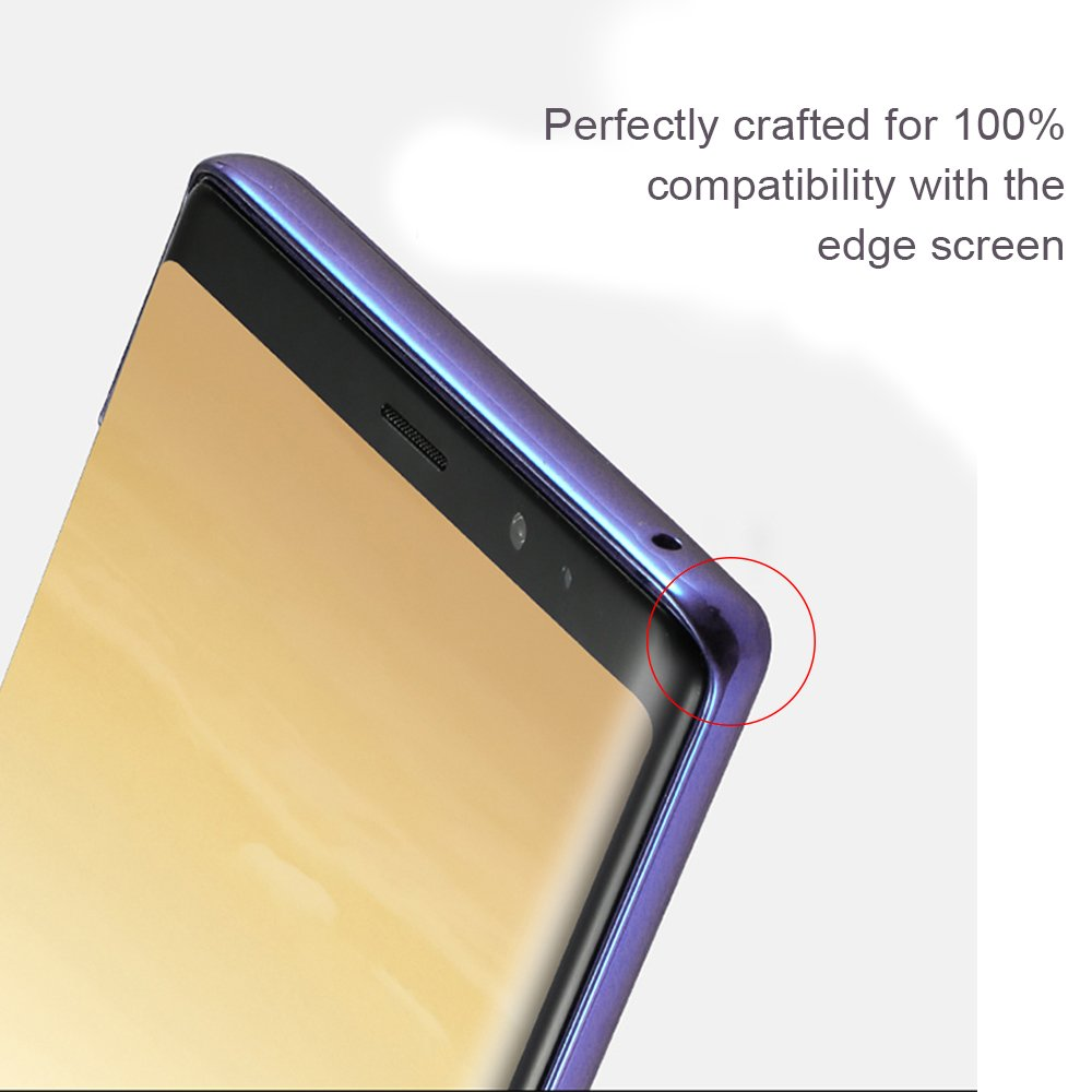 Phone Case for Note 8,Slim Crystal Clear Protective Cover Case with Colorful Frame for Samsung Galaxy Note 8