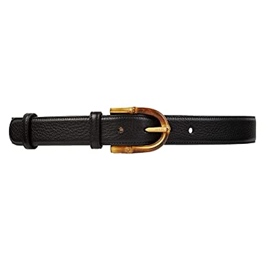 cd8e2ae48 Amazon.com: Gucci Women's Bamboo Buckle Leather Belt 322954: Clothing