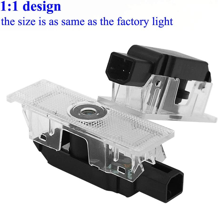 2pcs Car Door LED Logo Projector Lights for Dodge Welcome Ghost Shadow Courtesy Step Lamp Puddle Light for Dodge Charger Avenger Magnum Series